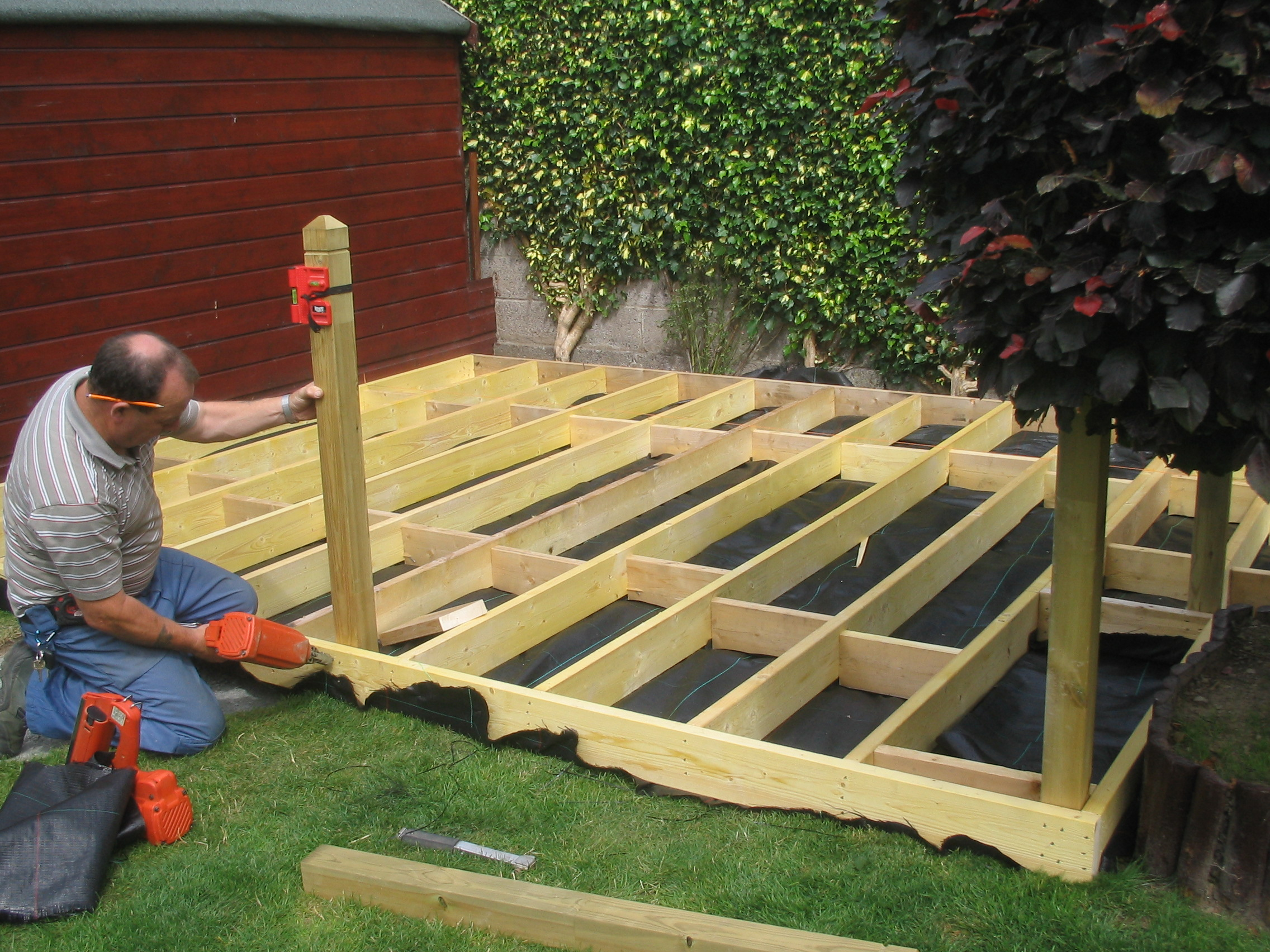 A 4rd a deck our services timber decking specialists for Timber deck construction